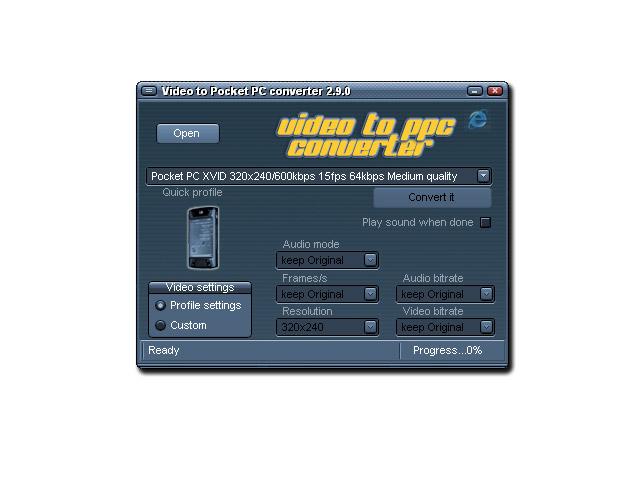 Video to Pocket PC converter Screenshot