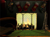Free Fireplace 3D Screensaver Screenshot