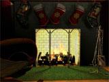 Free Fireplace 3D Screensaver Screenshot 1