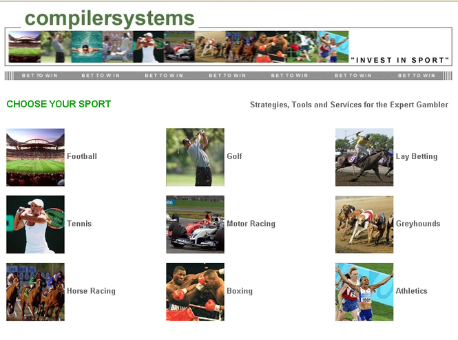 Sports Betting System Screenshot