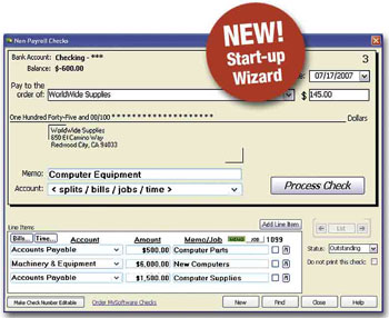 Bookkeeper 2008 Screenshot 1