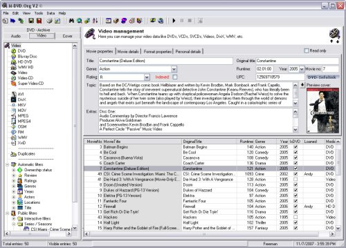 M-DVD.Org V2 - Video-Manager Screenshot