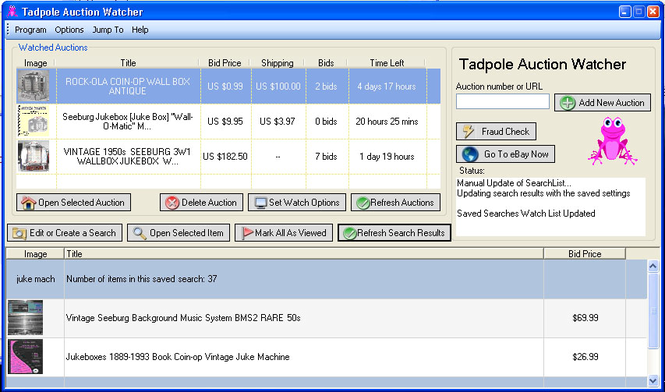 Tadpole Auction Watcher Screenshot 1