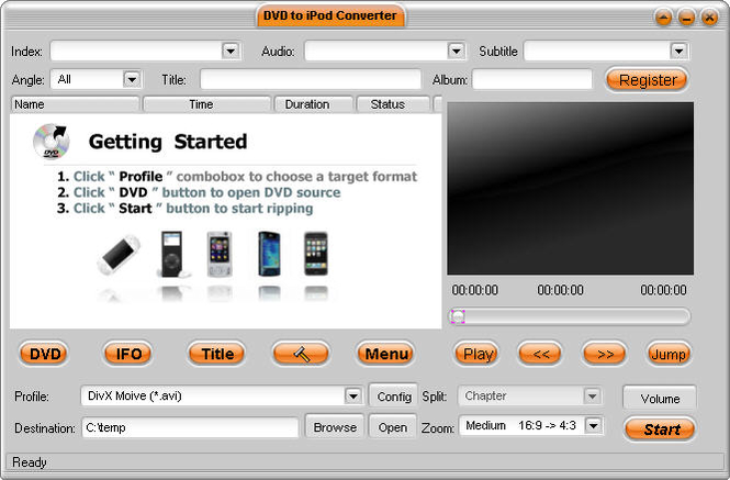 Nevo iPod Suite Screenshot