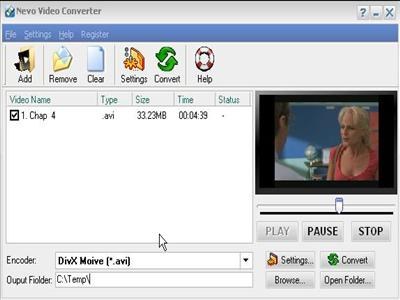 Nevo Video Converter Screenshot