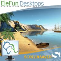 Tropic Island - Animated Screensaver Screenshot