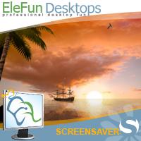 Sea Sunset - Animated Screensaver Screenshot 1