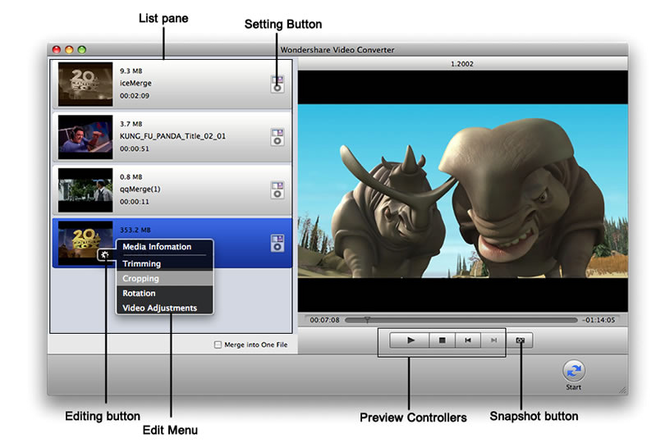 FLV to iMovie Converter for Mac Screenshot