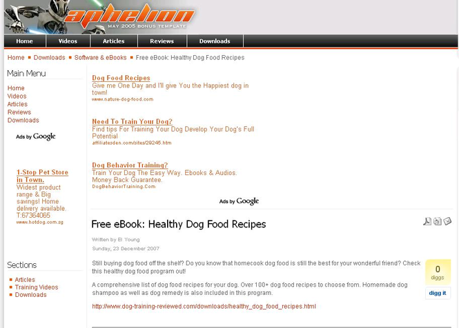 Healthy Dog Recipes Screenshot