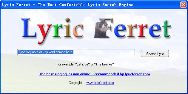 Lyric Ferret Screenshot