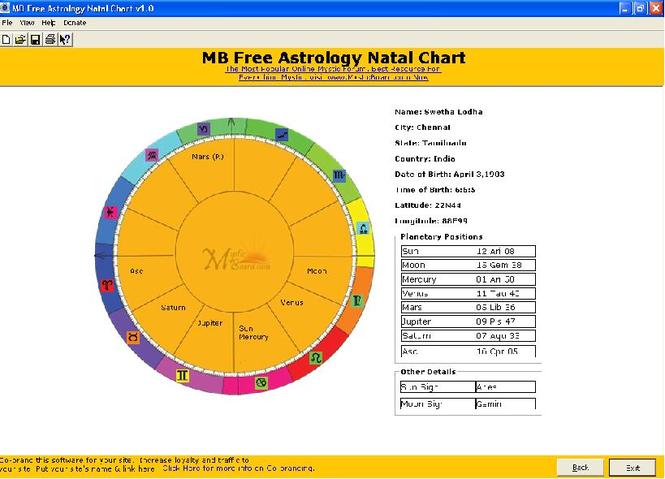 MB Astrology Natal Chart Screenshot 1