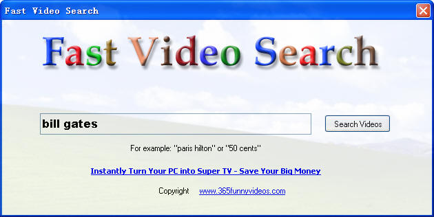 Fast Video Search Screenshot