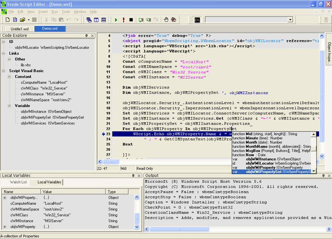 Vrode Script Editor Screenshot 1