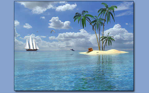 Tropical island screensaver Screenshot