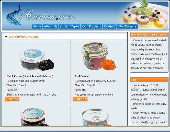 Buy Caviar Online Screenshot