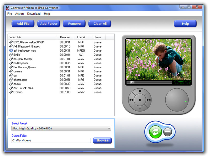 ConvexSoft Video to iPod Converter Screenshot