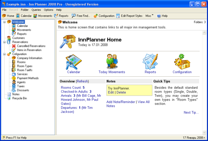 InnPlanner 2008 Professional Screenshot 1