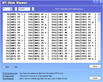 NT Disk Viewer Screenshot