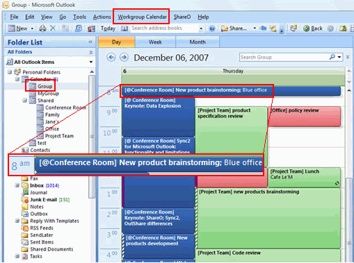 Workgroup Calendar for Outlook Screenshot