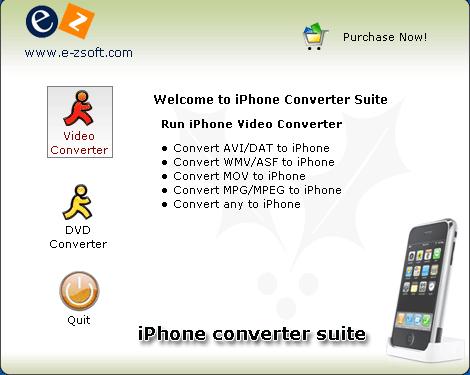 E-Zsoft iPhone Converter Suite Screenshot 1