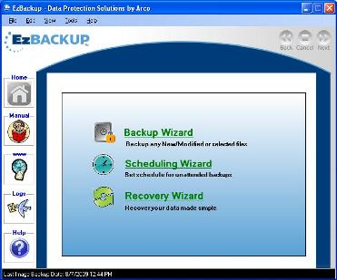 EzBackup Screenshot