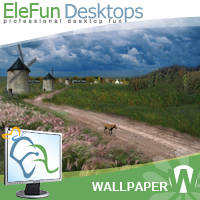 Three Windmills - Animated Wallpaper Screenshot