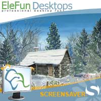 Snowy Hut - Animated Screensaver Screenshot