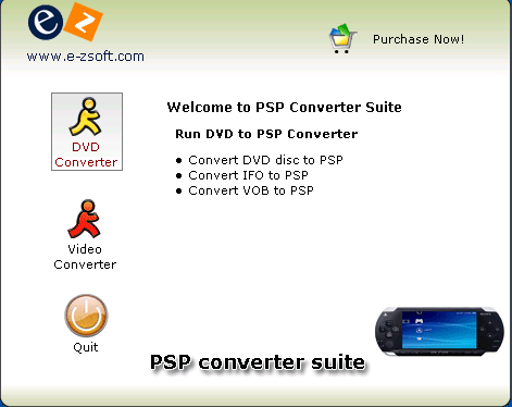 E-Zsoft PSP Converter Suite Screenshot