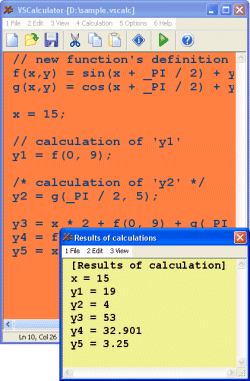 VSCalculator Screenshot
