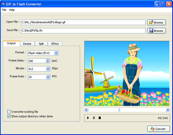 GIF to Flash Converter Screenshot 1
