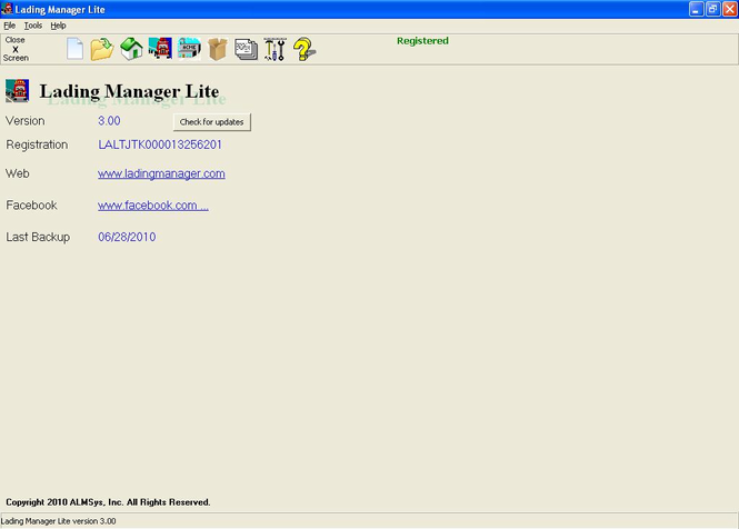 Lading Manager Lite Screenshot 1