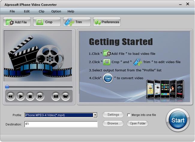 Aiprosoft iPhone Video Converter Screenshot 1