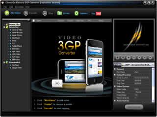 Clone2Go Video to 3GP Converter Screenshot