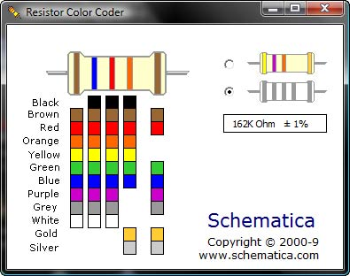 Resistor Color Coder Screenshot