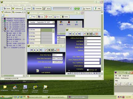 A Personal Information Manager Screenshot