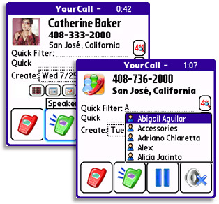 YourCall for Palm OS Professional Edition Screenshot 1