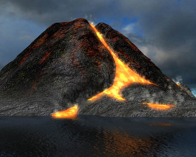 Active Volcano 3D Screensaver Screenshot