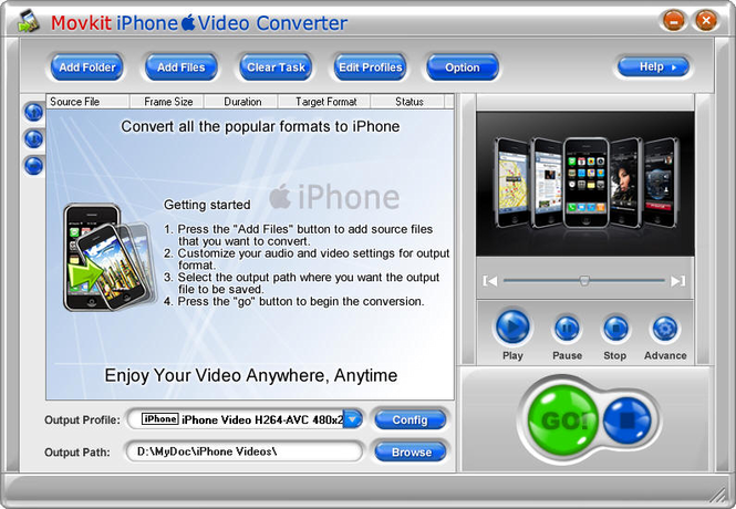 Movkit iPhone Video Converter Screenshot 1