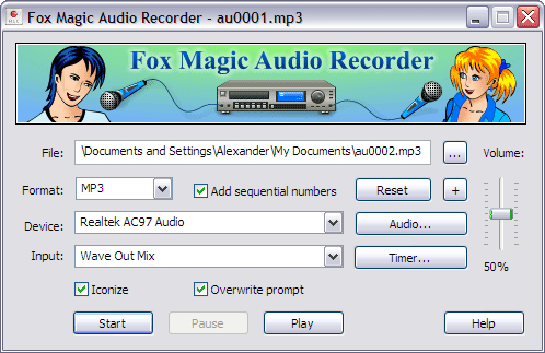 Fox Magic Audio Recorder Screenshot 1
