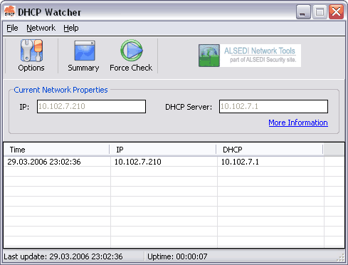 DHCP Watcher Screenshot 1