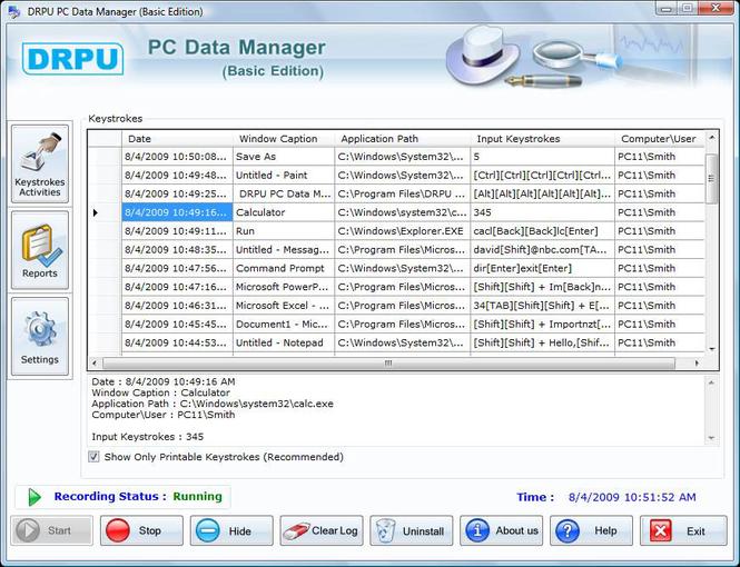 Keyloggers Screenshot