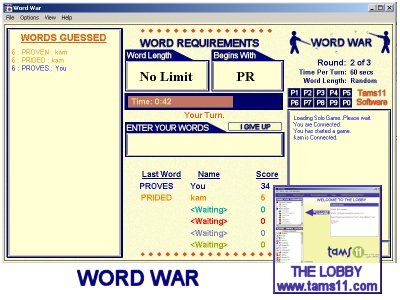 Tams11 WordWar Screenshot