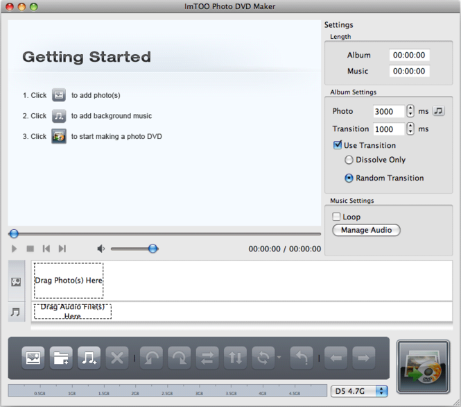 ImTOO Photo DVD Maker for Mac Screenshot