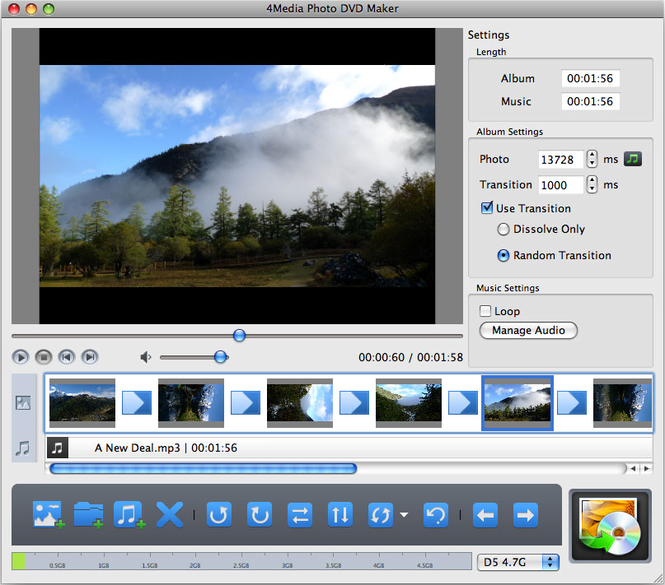 4Media Photo DVD Maker for Mac Screenshot