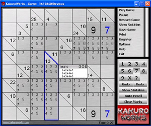 Kakuro Works Screenshot 1