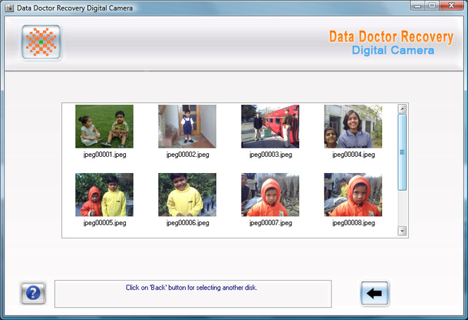 Data Doctor Recovery Digital Camera Screenshot