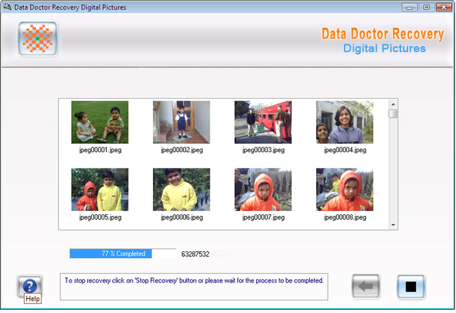 Digital Pictures Repair Software Screenshot 1
