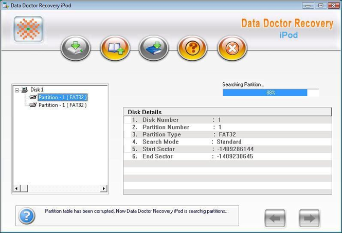 iPod Disk Repair Software Screenshot