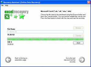 Excel Recovery Assistant Screenshot