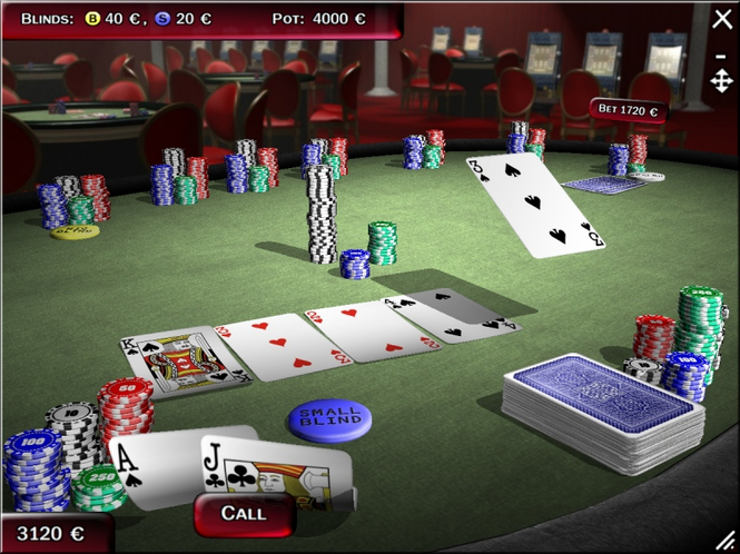 Texas Holdem Poker 3D-Gold Edition 2008 Screenshot 1